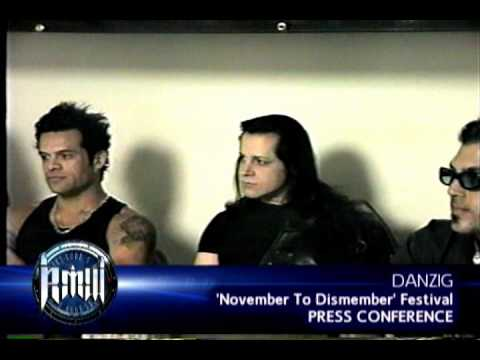 DANZIG Press Conference on Robbs MetalWorks 1999