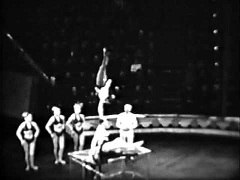 circus  women acrobatic group 1965