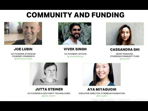 Community And Funding At The Ethereum Meetup 2018
