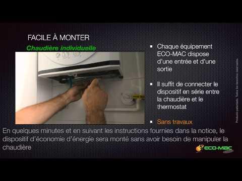 Eco-mac Classic . Dispositif d´économie d´énergie pour chaudiéres á gaz ou au fioul.