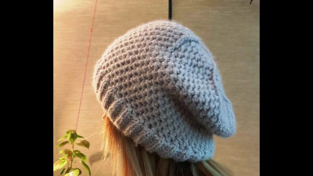 b9648e66f1fcc2 How to Knit a Slouchy Beanie Hat? (Long Version with Details) - YouTube
