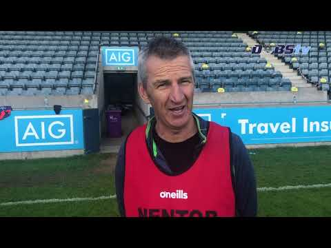 O'Dwyers manager Sean Keenan speaks to DubsTV after Junior 1 Football Final victory
