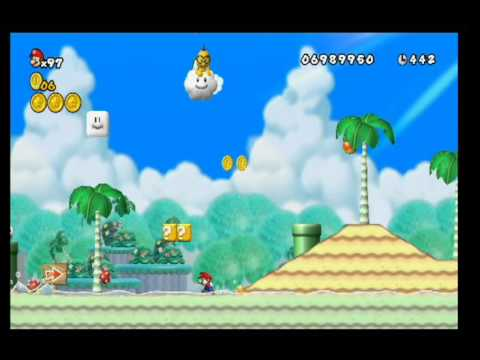New Super Mario Bros Wii World 4 5 All Star Coins Hd Youtube