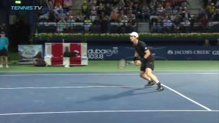 Incredible Andy Murray backspin half-volley | Dubai 2017 Semi-Final