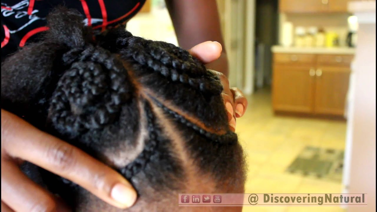 250 Natural Hair ButterFly Cornrow Hair Style