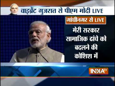 LIVE: PM Narendra Modi Addressing Public at Vibrant Gujarat Summit - India TV