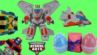 Transformers Rescue Bots Blades the Flight-Bot from Playskool Heroes + Giant Surprise Eggs Bonus