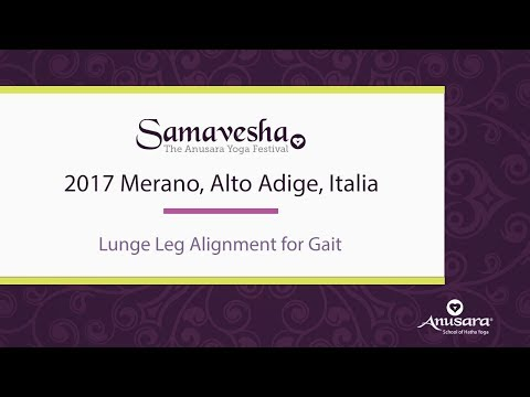 Lunge Leg Alignment for Gait