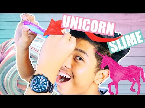 DIY HOW TO MAKE UNICORN SLIME! CUTE AND FLUFFYYY!! | PHILIPPINES