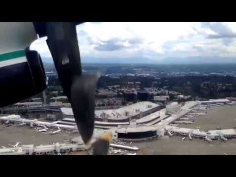 Horizon Air Dash 8 Q400 from Seattle to Boise