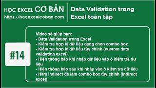 Học Excel cơ bản | #14 Kiểm tra dữ liệu (data validation)