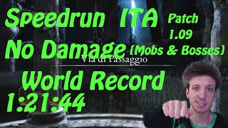 Dark Souls 2 Speedrun NO DAMAGE WORLD RECORD ITA 1:21:44 Patch 1.09 (Any% No damage Mobs & Bosses)
