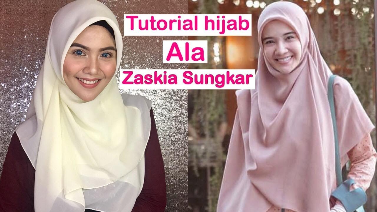 Tutorial Hijab Menutup Dada Ala Zaskia Sungkar Versi Syar I Tutorialhijab2019 Zaskiasungkar Youtube
