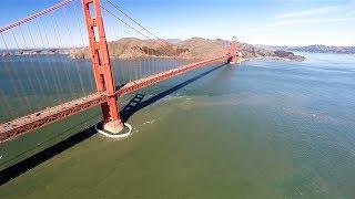 DJI Phantom 2 at The Legion of Honor and Golden Gate Bridge