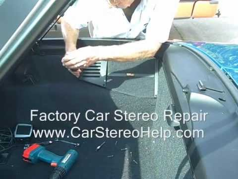 How to Chevy Corvette Bose Rear Speaker speakers Removal C4 amp amplifier 1990 - 1996 Repair fix