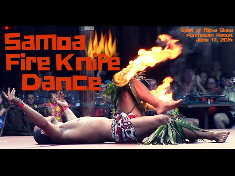 Spirit of Aloha Samoa Fire Knife Dance  June 17, 2014