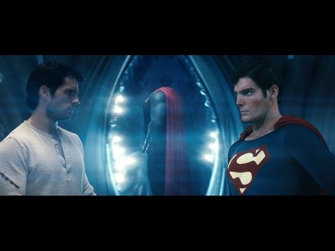 Christopher Reeve Superman Passes The Torch To Henry Cavill [HD]