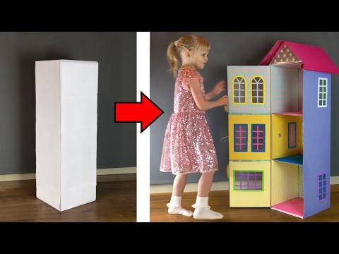 Кукольный домик из коробки своими руками фото