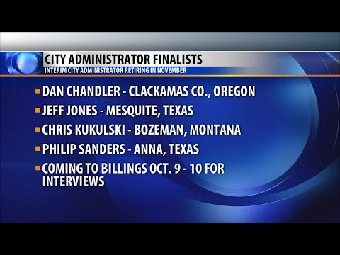 Billings names four finalists for city administrator