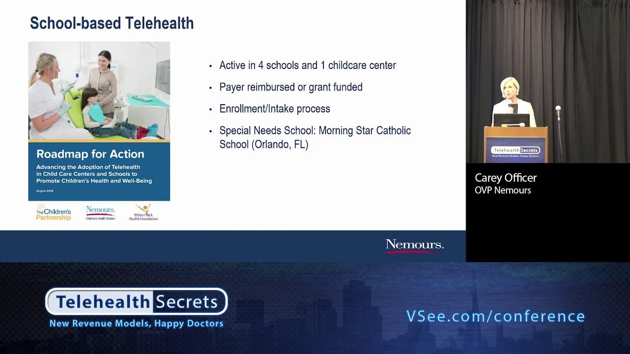 Child Psychiatry Nemours Childrens Health System >> Telehealth For Children Carey Officer Nemours Vsee