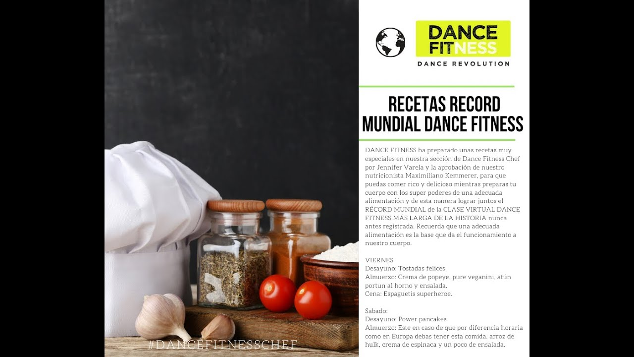 RECETAS DANCE FITNESS CHEF. RECORD MUNDIAL DANCE FITNESS