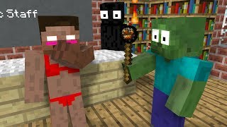 Monster School: Magic Staff - Minecraft Animation
