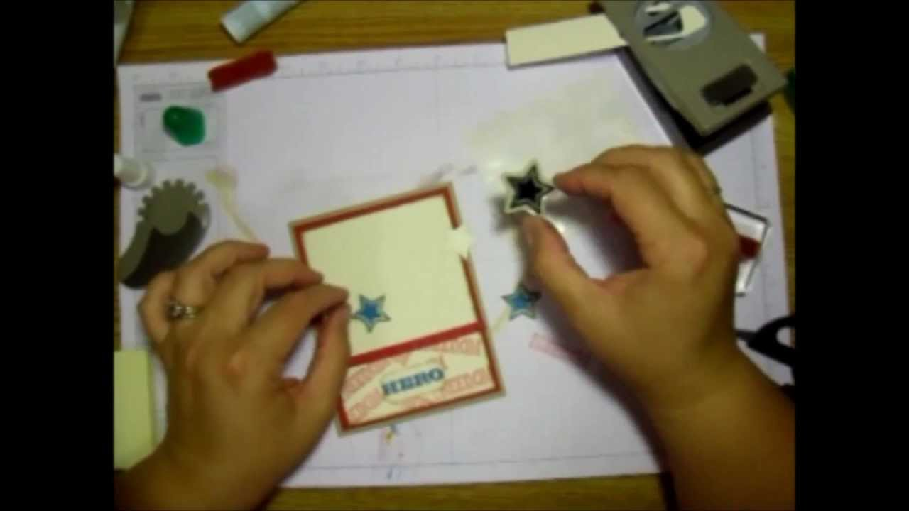 Thank a Soldier Greeting Card - Many Stamping Techniques - YouTube
