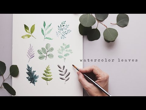 Every Watercolor Leaf You'll Ever Need!  w/ Genuine Crafts