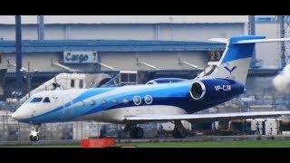 ✈✈綺麗なガルフ プレミエア (Premiair) Gulfstream Aerospace  G500/G550 (G-V) VP-CJM RWY16R 成田空港