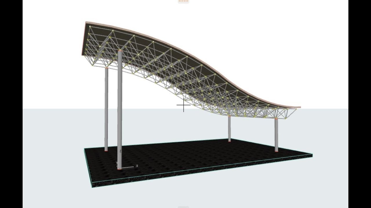 Archicad Truss Membuat Space Frame Lengkung Curved