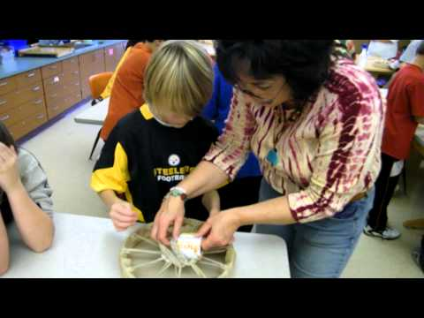 300 Drums Project: Braiding drum Handles at Donaldson Elementary School