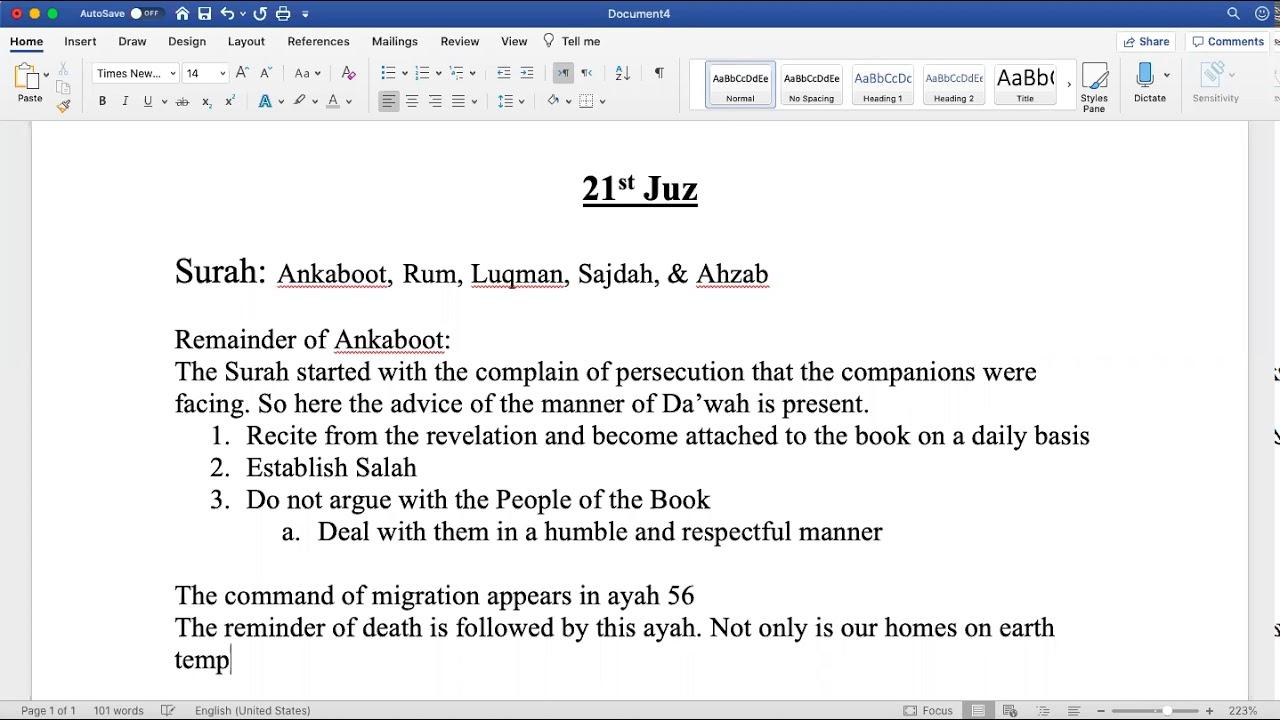 Sh. Zubair || Quranic Overview (Juz 21)