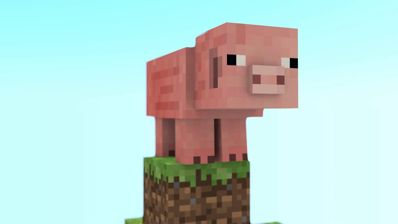 Pig goes walking - A Minecraft animation - YouTube