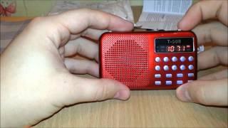 Распаковка и обзор fm радио T 508 с AliExpress