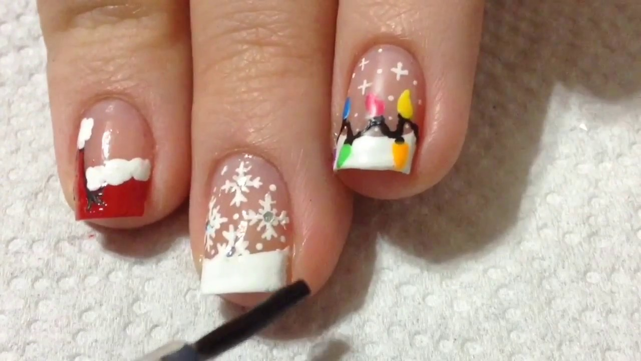 Christmas French Nail Creative And Trendy French Nails For Christmas