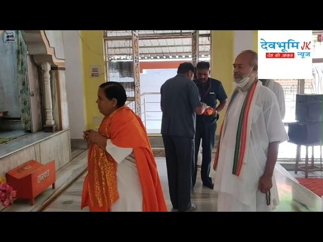 Uma bharti ji in brhmpuri Rishikesh.