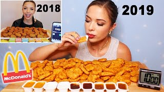 REMATCH: Chicken Nugget Challenge!!! (100 Nuggets in 10 Minutes?!)