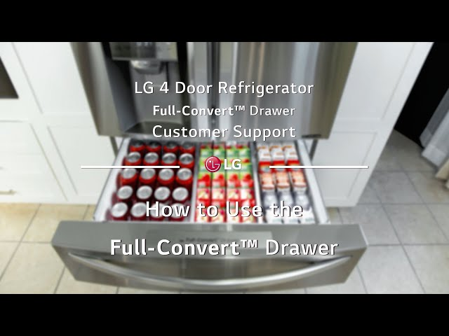 LG 4-Door-French Door Refrigerator: How to use the Full-Convert™ Drawer