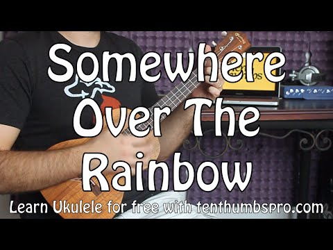 Somewhere Over The Rainbow - Easy Beginner Ukulele Tutorial - Iz