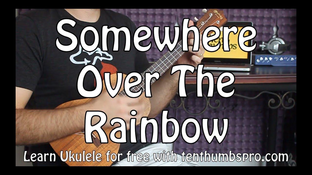 Somewhere Over The Rainbow - Easy Beginner Ukulele Tutorial - Iz