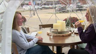 Wayzata restaurant sets up heated 'igloos' to extend outdoor dining season