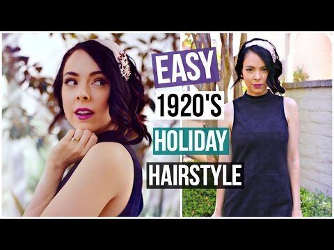 20s HOLIDAY GLAM CURLY HAIRSTYLE! All Things Hair! thumbnail