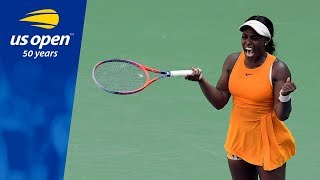 2017 US Open Champion Sloane Stephens Tested on Arthur Ashe Stadium