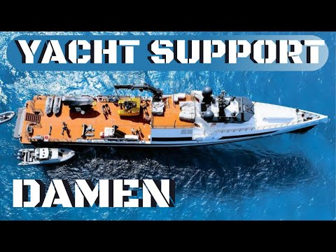 SUPERYACHT SIDEKICK / SUPPORT & TOY HAULER DAMEN AXIS walkthrough: Full Exclusive Tour with AMELS