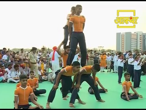 International Yoga Day # Performed by Acharyakulam Students   21 June 2017