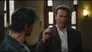 The Expendables In The Church (Arnold and Bruce Scene)