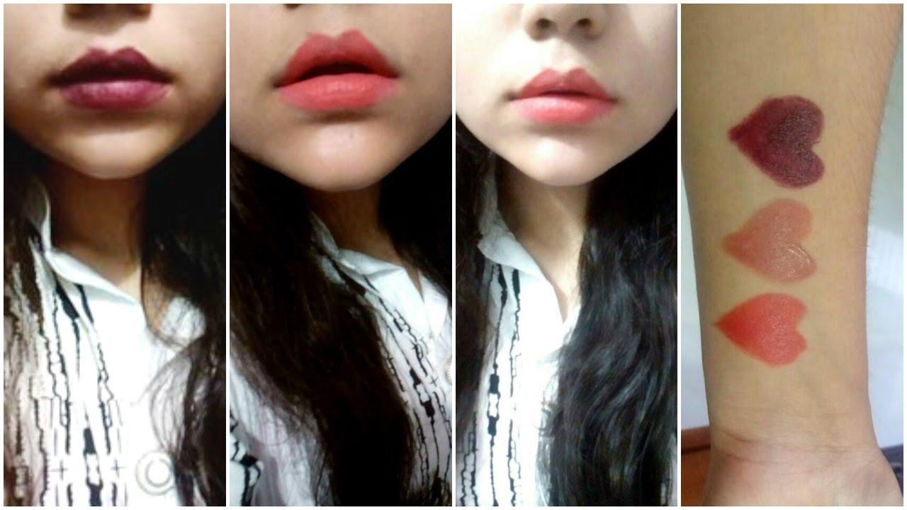 Golden Rose Velvet Matte Lipstick Swatches Review Drugstore