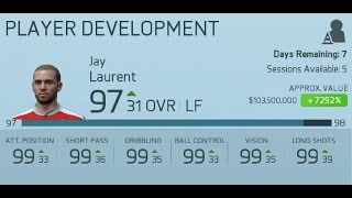 HOW TO GET A 90+ RATED PLAYER IN PLAYER CAREER MODE | Fifa 16 Glitch