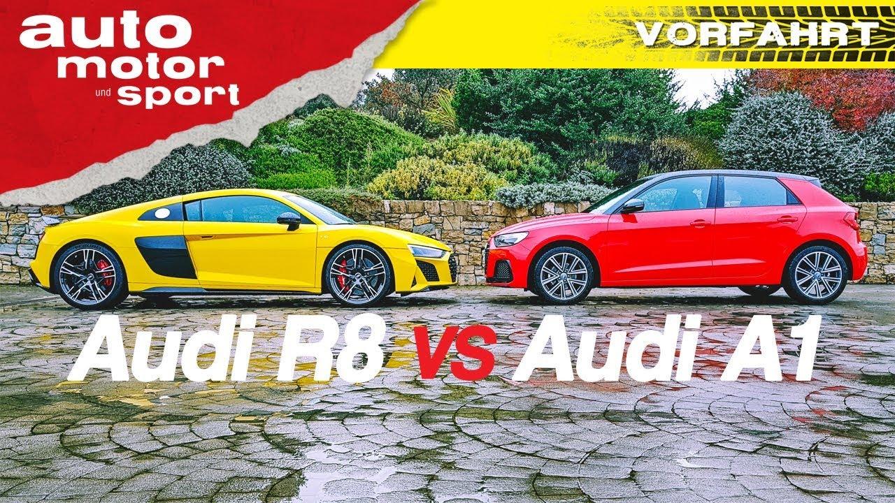 Neuer Audi A1 vs neuer Audi R8: Sind beide Sieger-Typen? - Fahrbericht/Review | auto motor und sport
