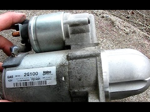 How To Replace The Starter In A 2 4l Hyundai Sonata Part Installation